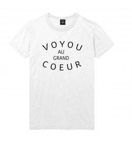 Man T-shirt VOYOU au grand COEUR