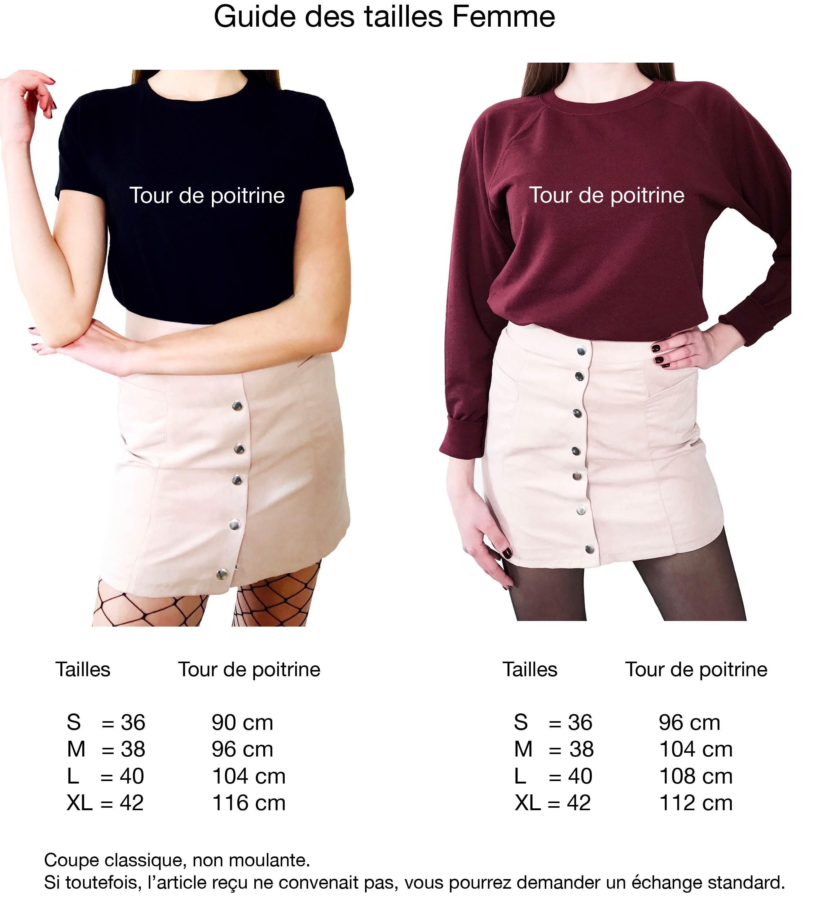 guide tailles femmes